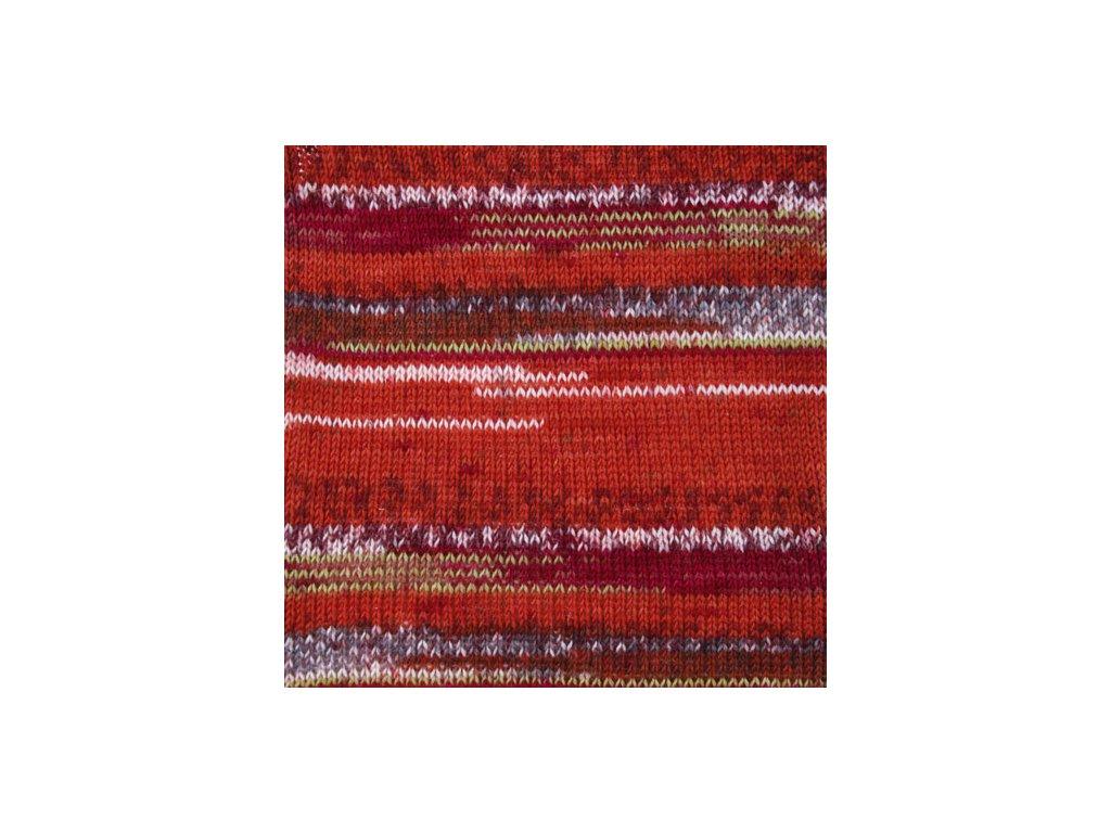 DROPS Fabel print 159 - červená chili
