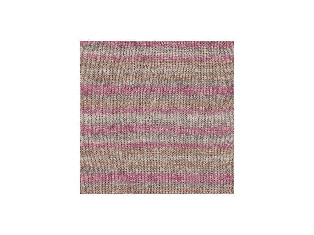 DROPS Fabel long print 623 - růžová mlha