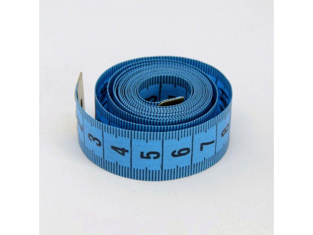 Krejčovský metr 150 cm - modrý