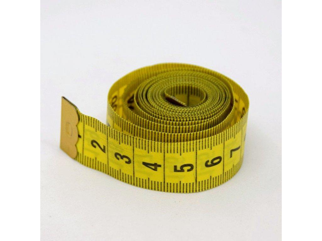 Krejčovský metr 150 cm - tmavě žlutý