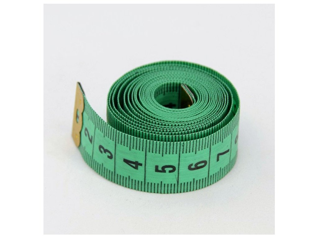 Krejčovský metr 150 cm - zelený