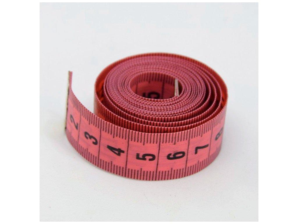 Krejčovský metr 150 cm - růžový