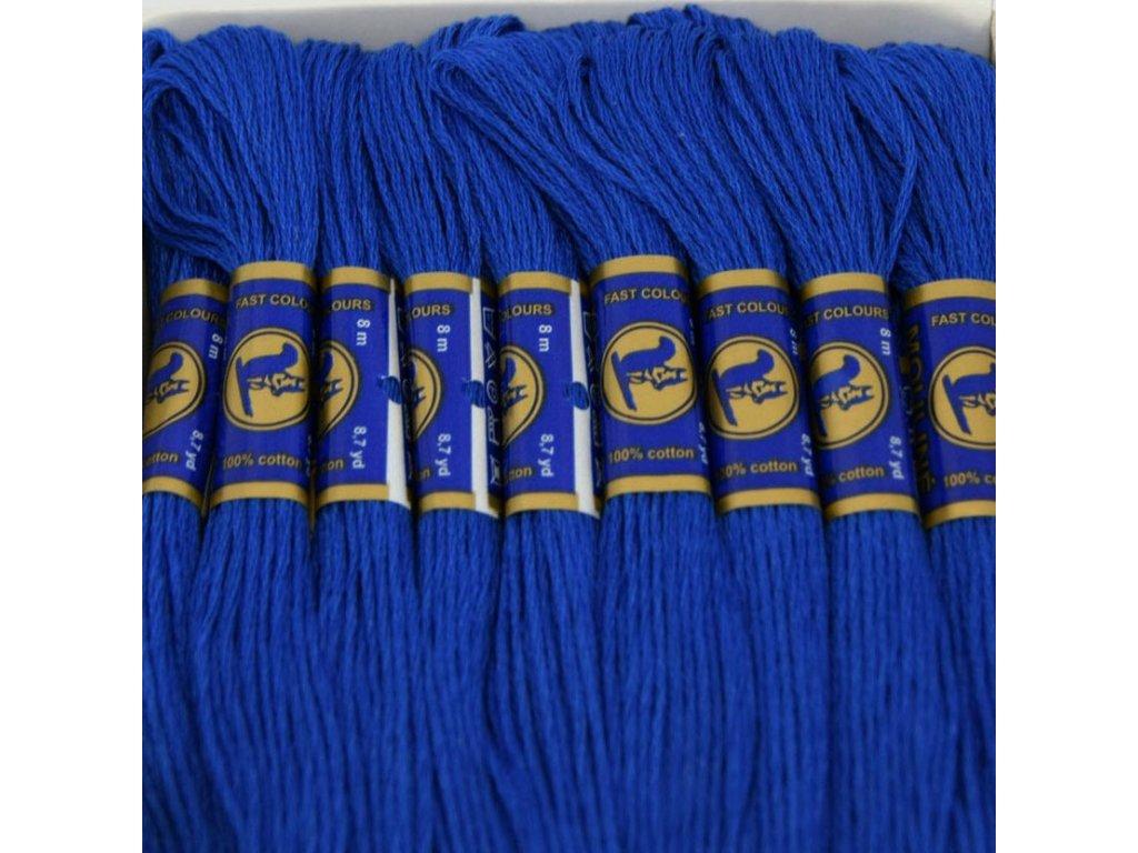 Vyšívací příze Mouline - 5672 středověká modrá