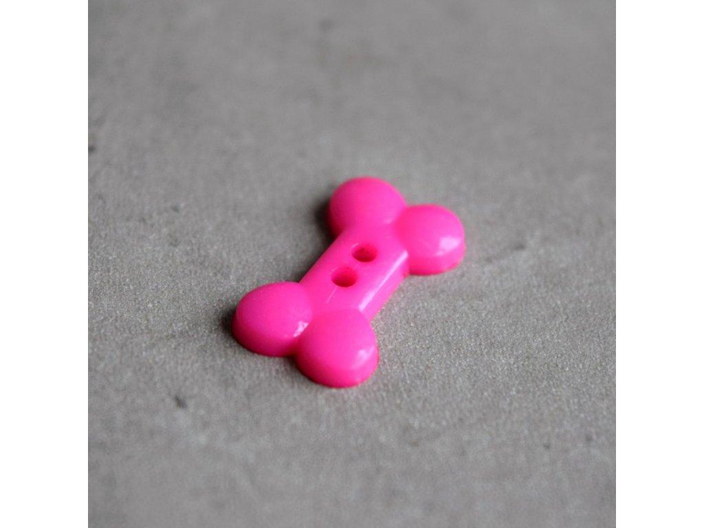 Knoflík - kost - růžová