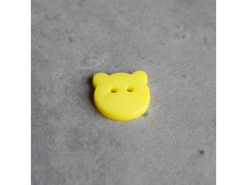 Knoflík - medvídek - žlutý