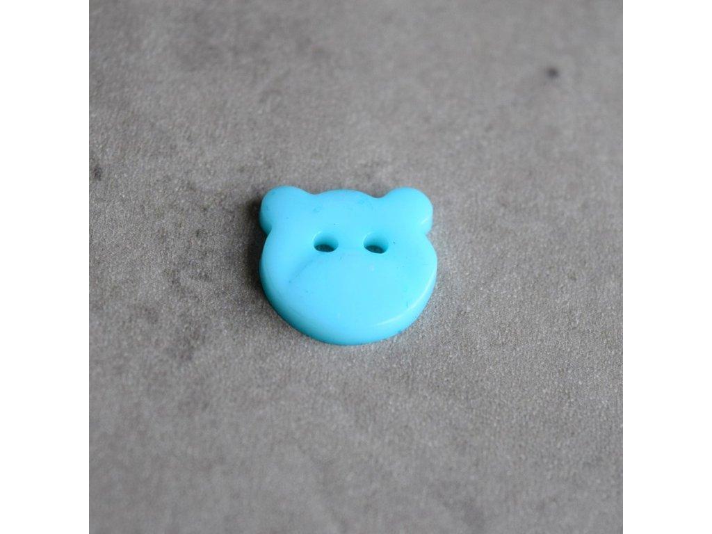 Knoflík - medvídek - světle modrý