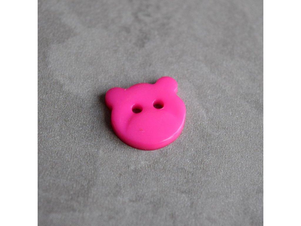 Knoflík - medvídek - růžový