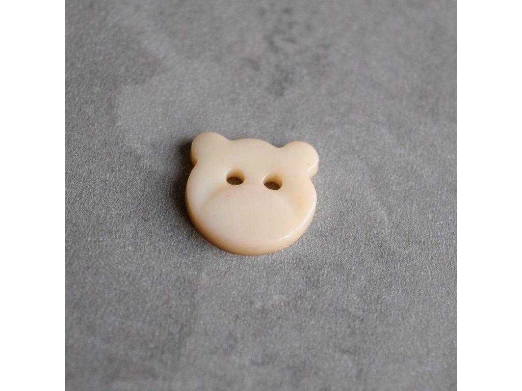 Knoflík - medvídek - béžový