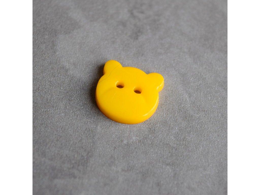 Knoflík - medvídek - světle oranžový