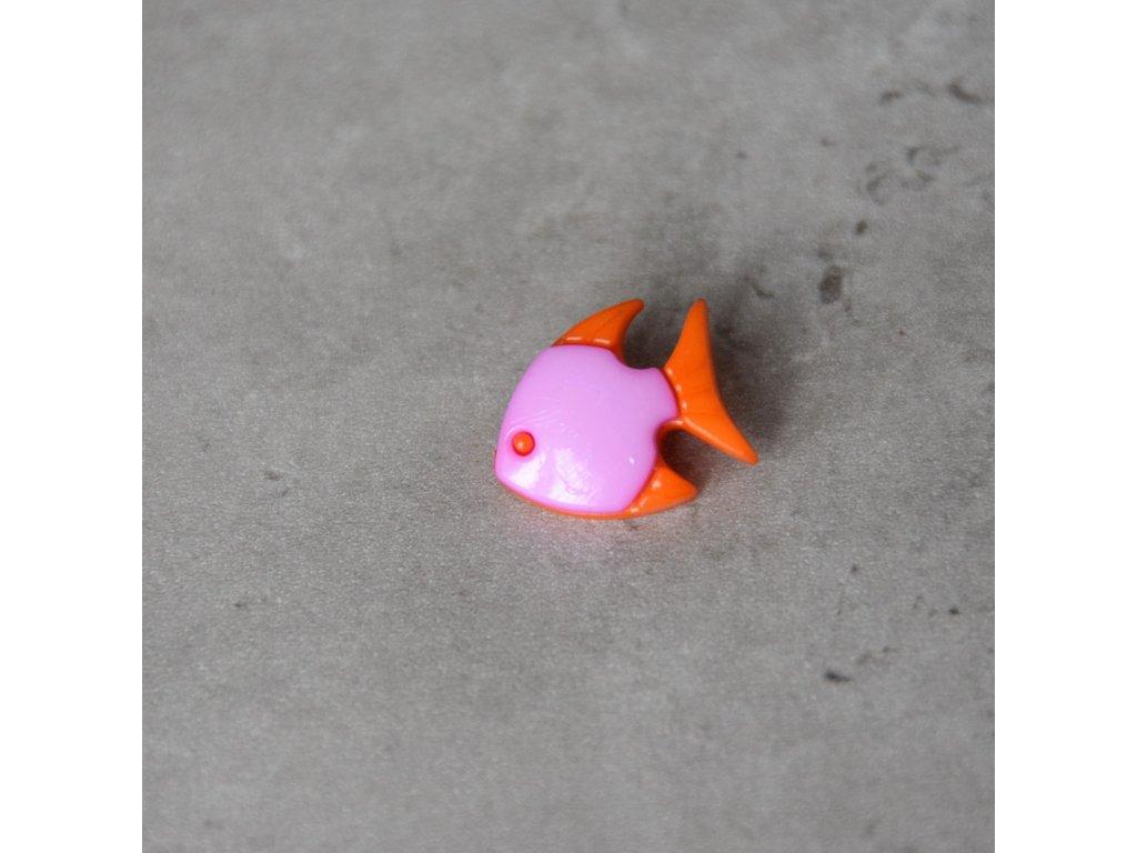 Knoflík - rybka - fialová
