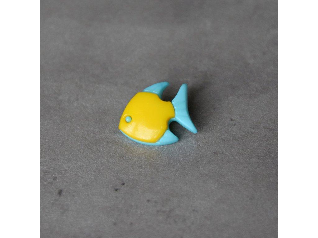 Knoflík - rybka - žlutá