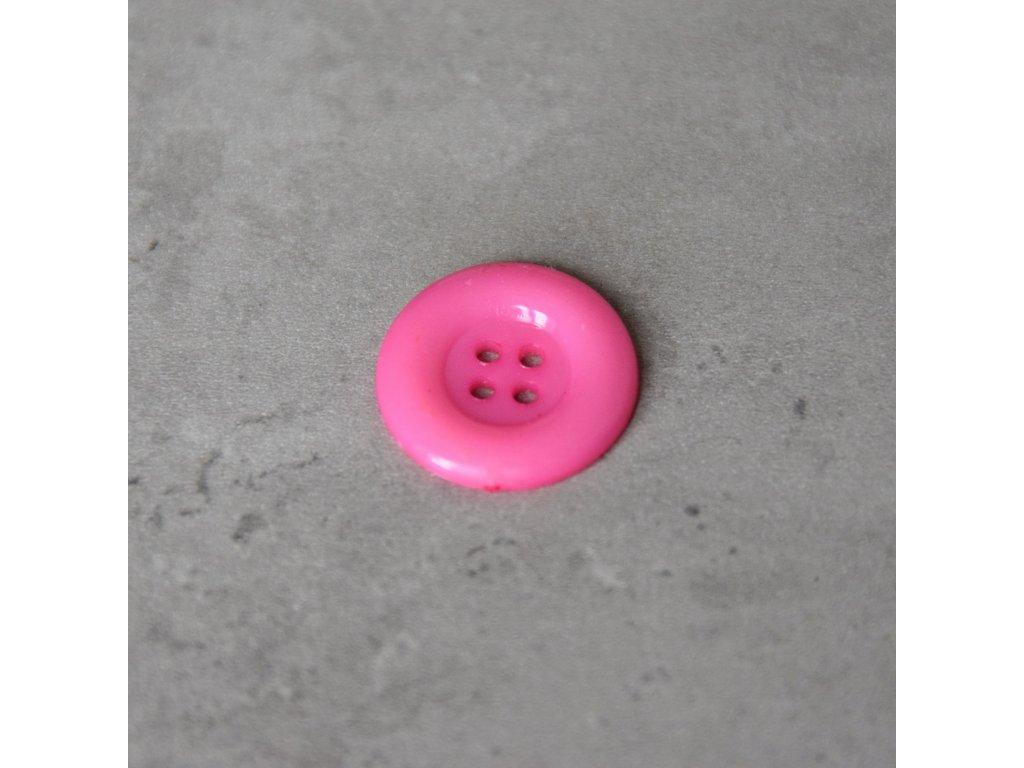 Knoflík - čtyřdírkový - růžový