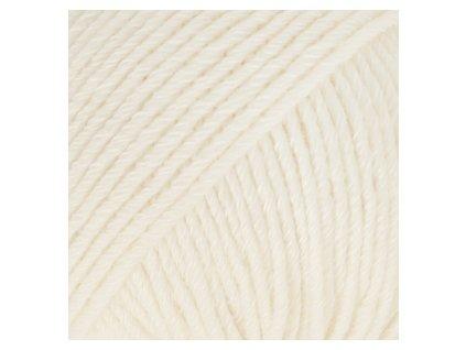 DROPS Cotton Merino uni colour 01 - smetanová
