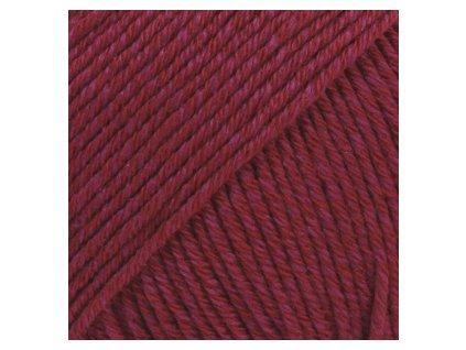 DROPS Cotton Merino uni colour 07 - vínová