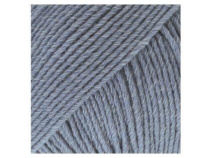DROPS Cotton Merino uni colour 16 - džínová modrá