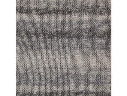 DROPS Fabel long print 602 - stříbrná liška