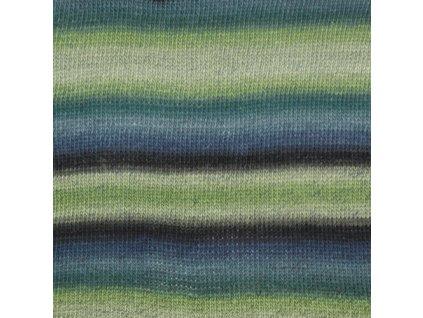 DROPS Delight print 16 - zelená/modrá