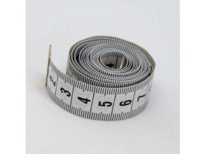 Krejčovský metr 150 cm - šedý
