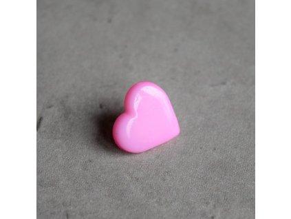Knoflík - srdíčko - růžové