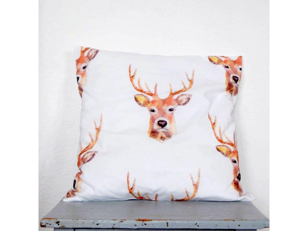 Povlak na polštář - jeleni