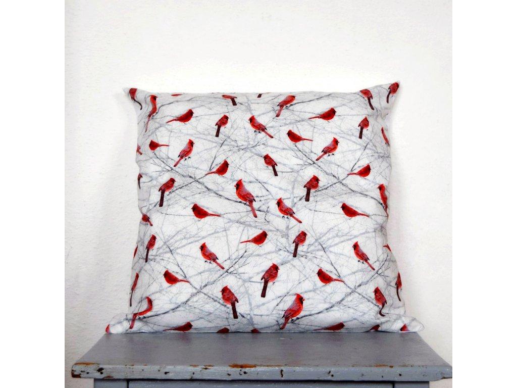 Povlak na polštář - ptáčci