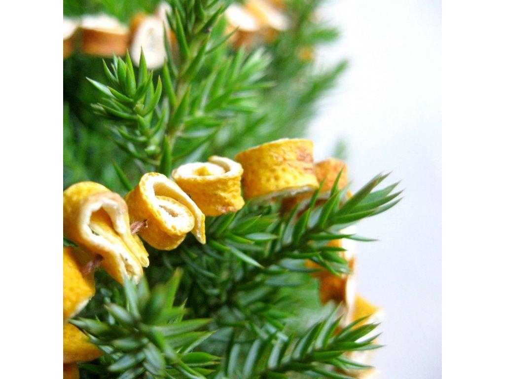 Vánoční řetěz - citronový šnek
