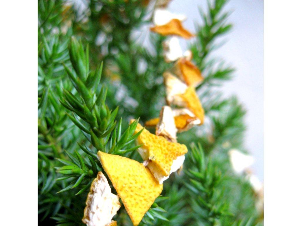 Vánoční řetěz - citronový trojúhelník