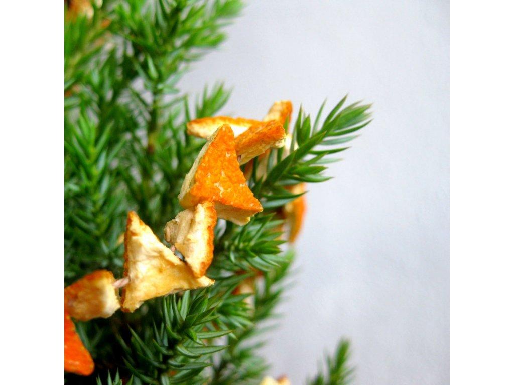 Vánoční řetěz - pomerančový trojúhelník
