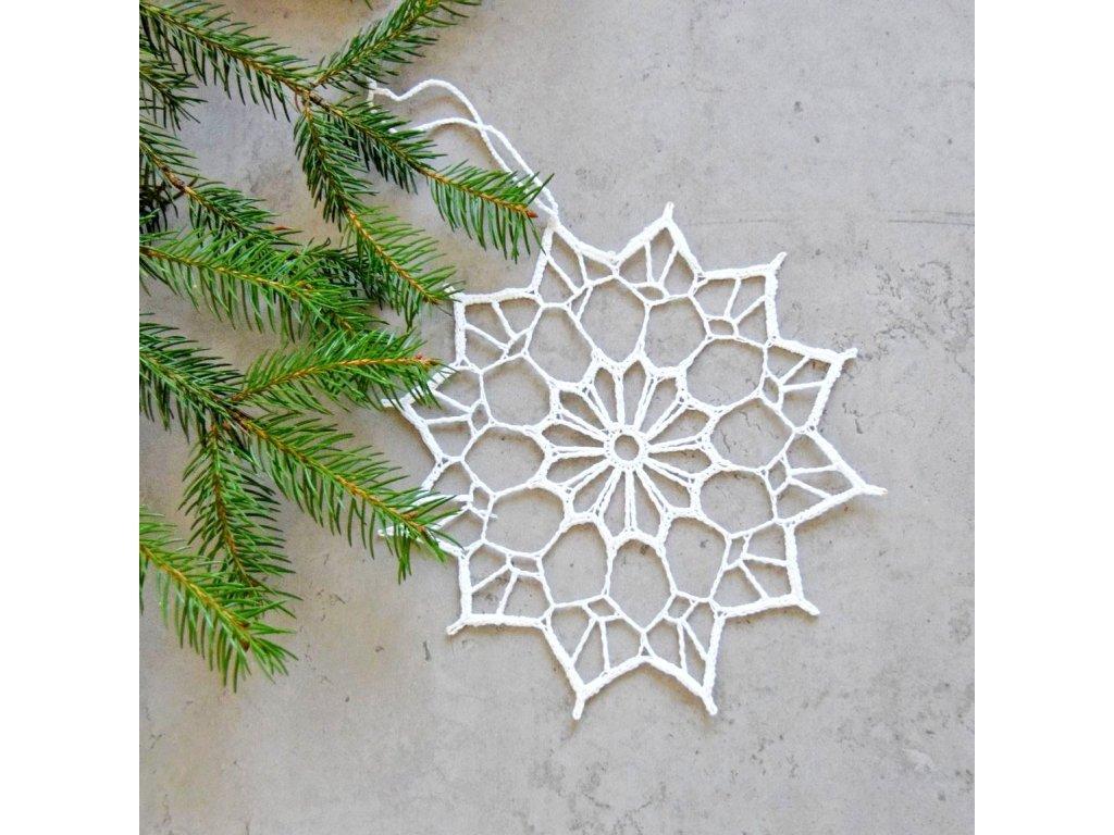 Vánoční hvězdička 01 - velká - bílá