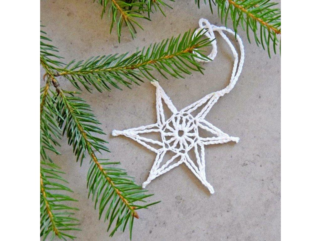 Vánoční hvězdička 02 - malá - bílá