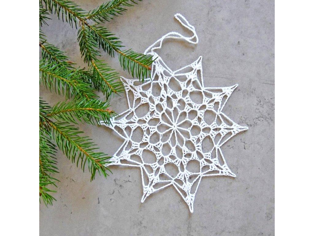 Vánoční hvězdička 03 - velká - bílá