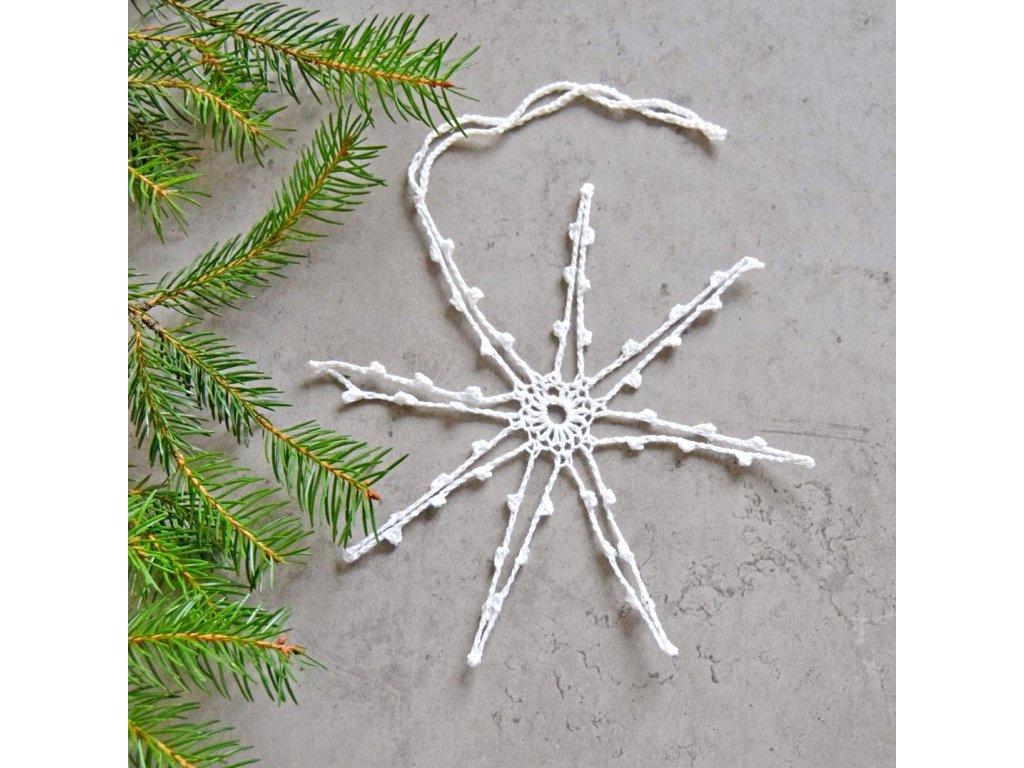 Vánoční hvězdička 04 - střední - bílá