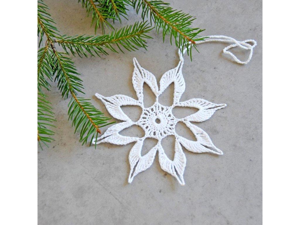 Vánoční hvězdička 05 - střední - bílá