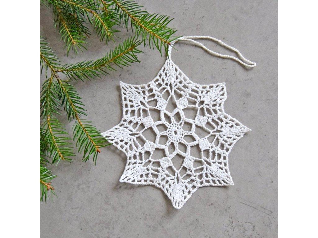 Vánoční hvězdička 06 - velká - bílá