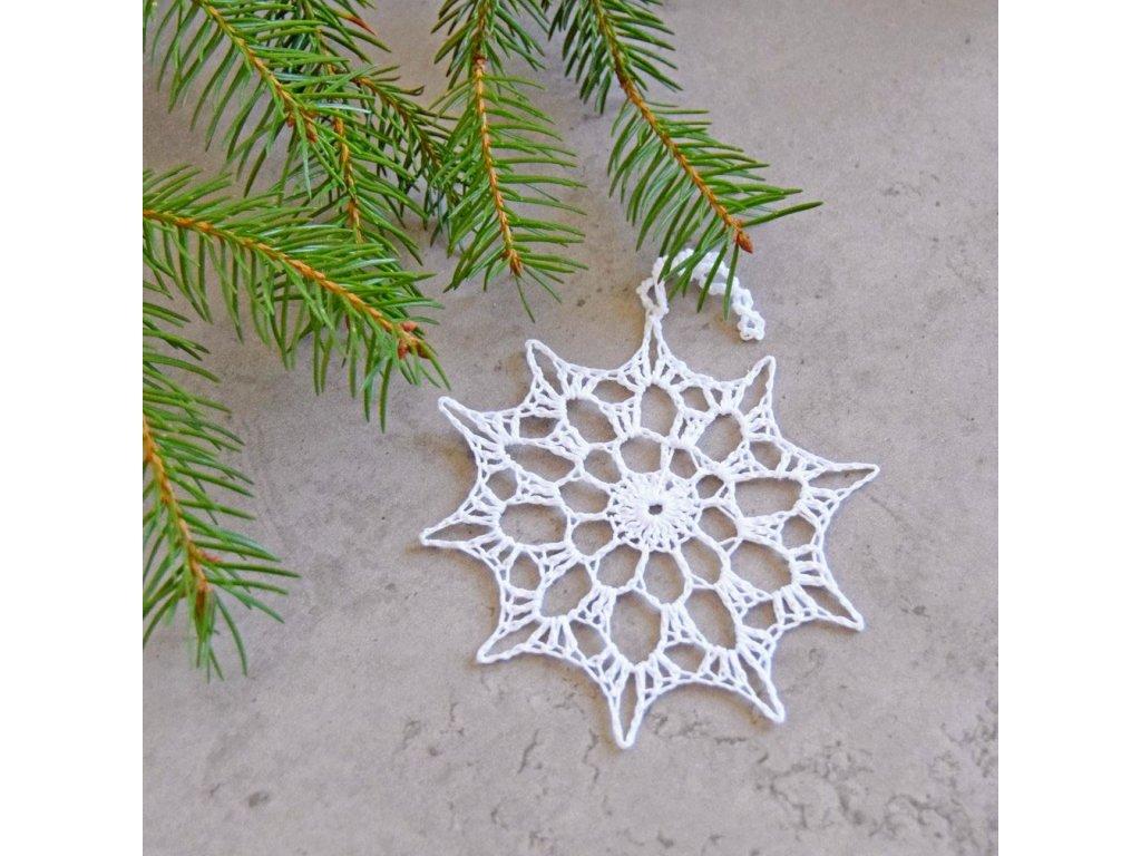 Vánoční hvězdička 07 - střední - bílá