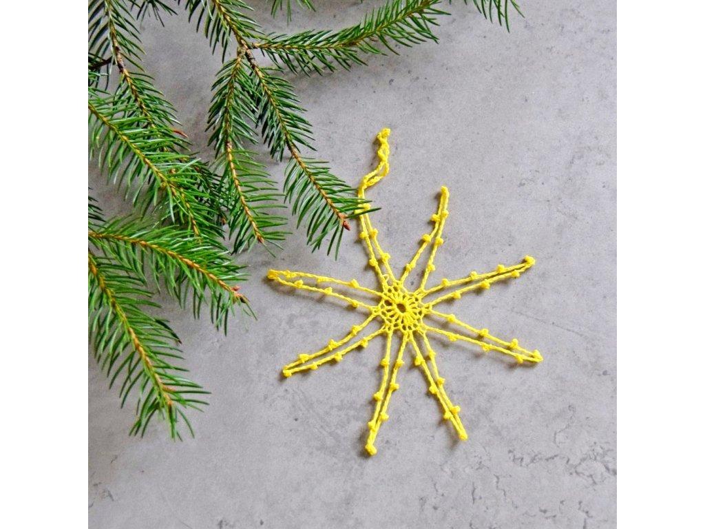 Vánoční hvězdička 04 - střední - žlutá