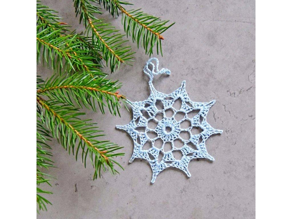 Vánoční hvězdička 07 - střední - bleděmodrá