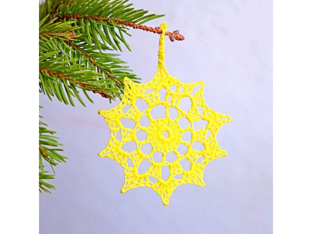 Vánoční hvězdička 07 - střední - žlutá
