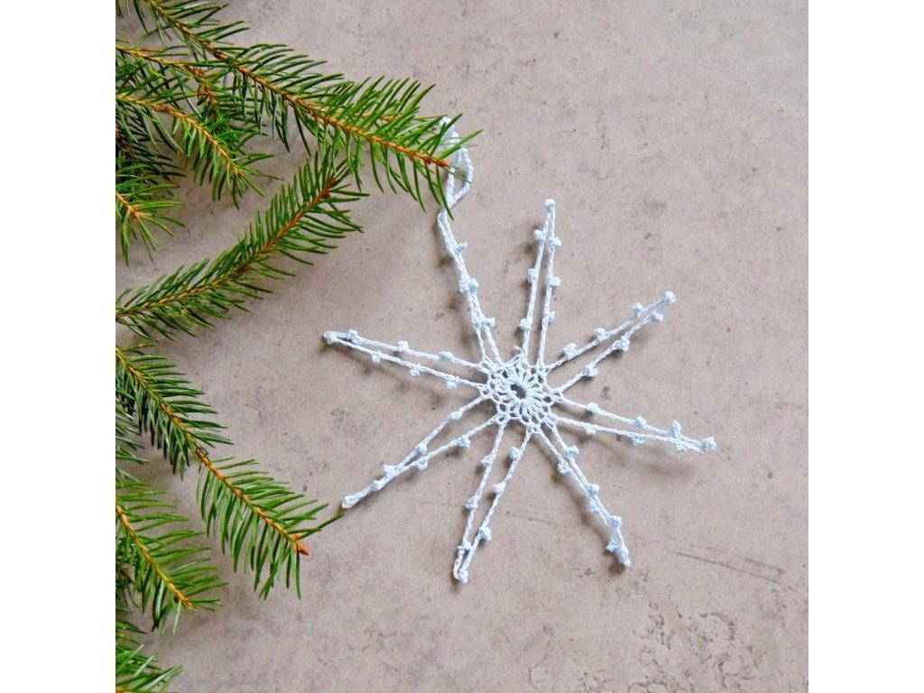 Vánoční hvězdička 04 - střední - bleděmodrá