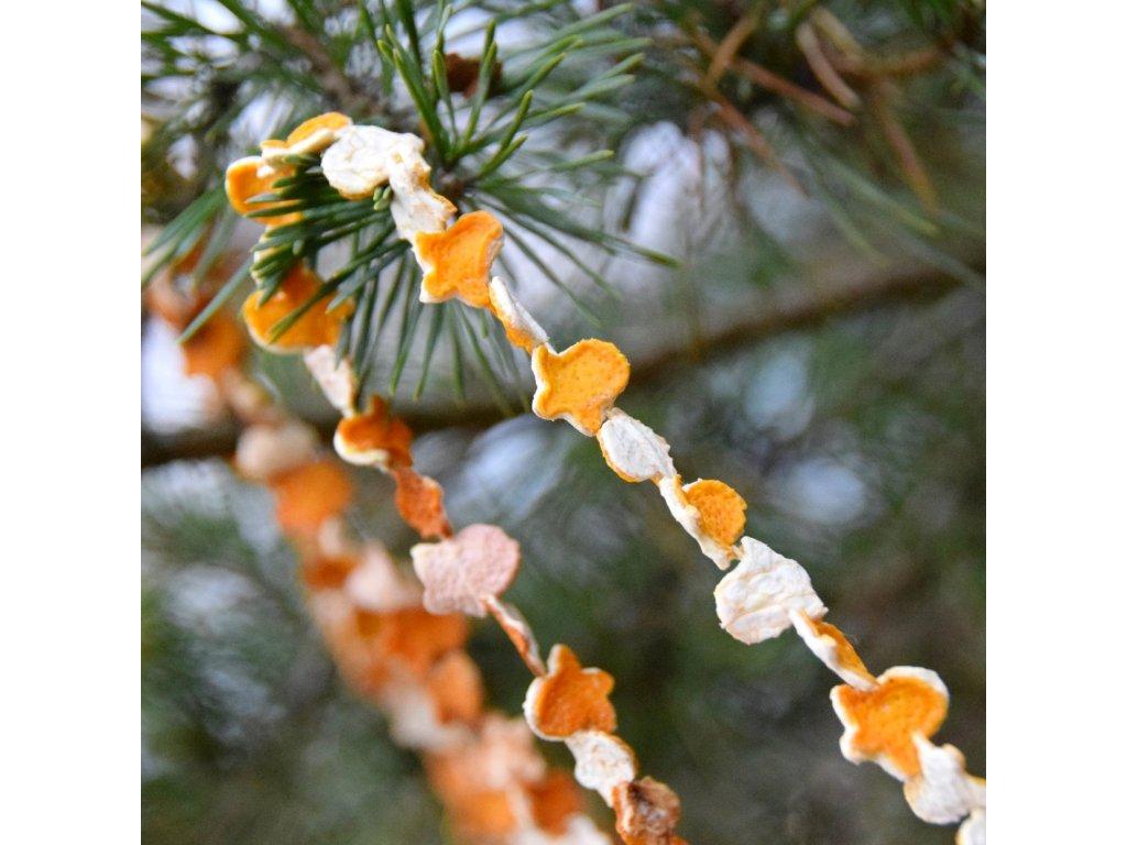 Vánoční řetěz - pomerančový zvoneček
