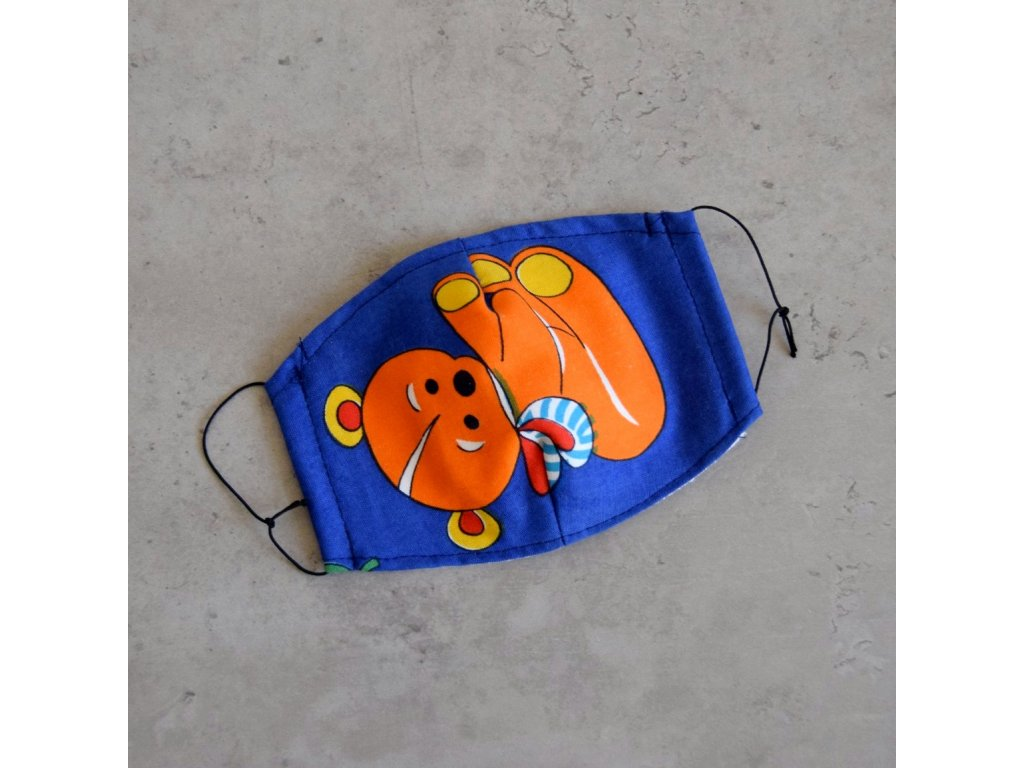 Bavlněná rouška dětská - medvěd