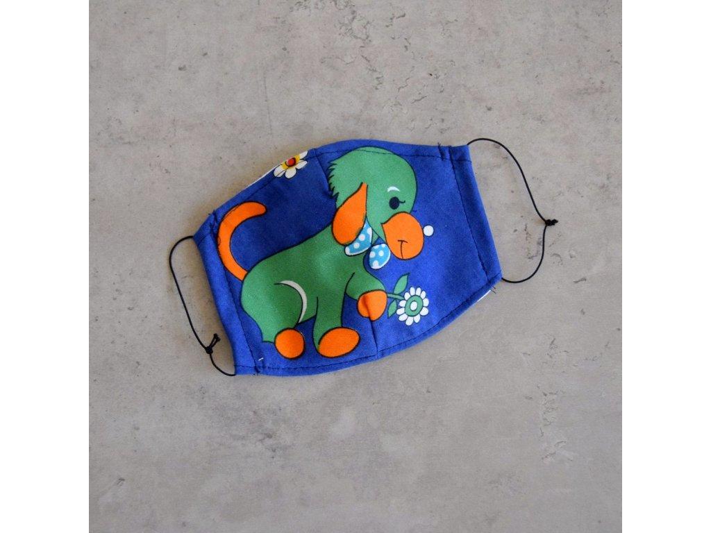 Bavlněná rouška dětská - pejsek