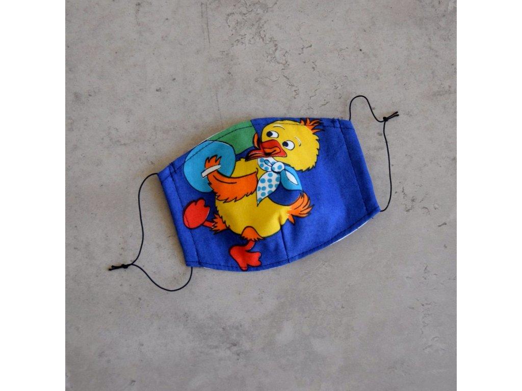 Bavlněná rouška dětská - kačenka
