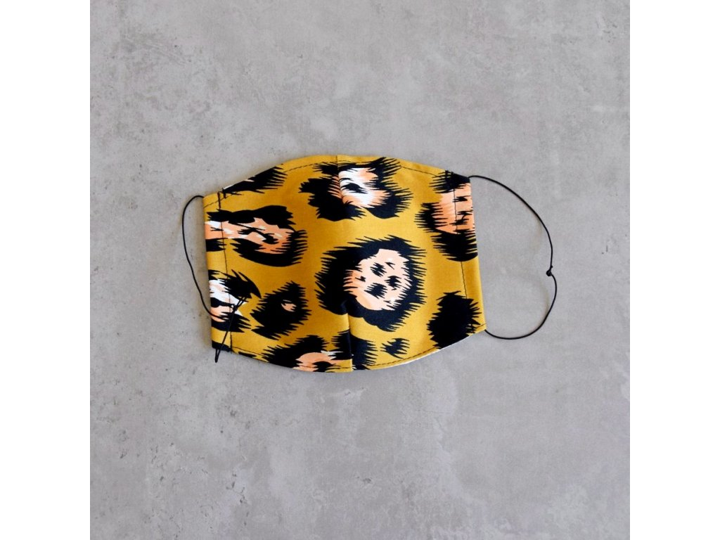 Bavlněná rouška dámská - levhart