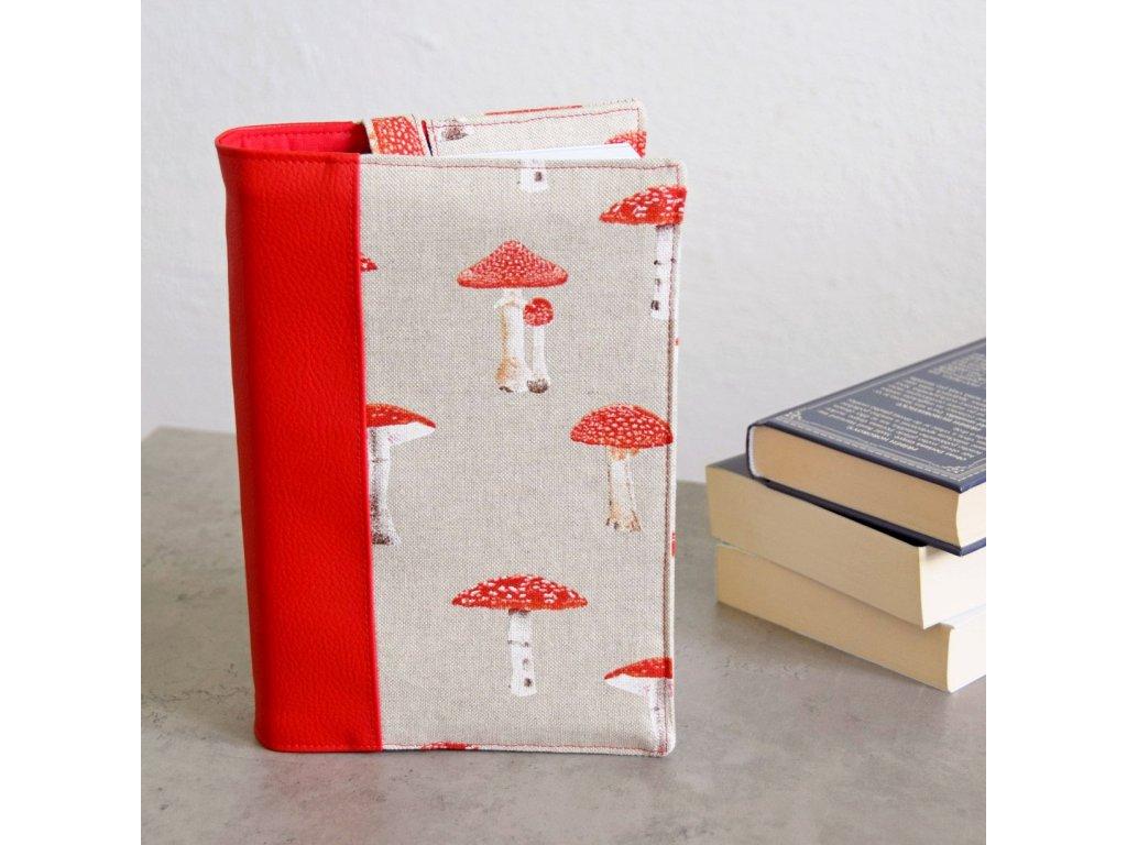 Obal na knihu - muchomůrky
