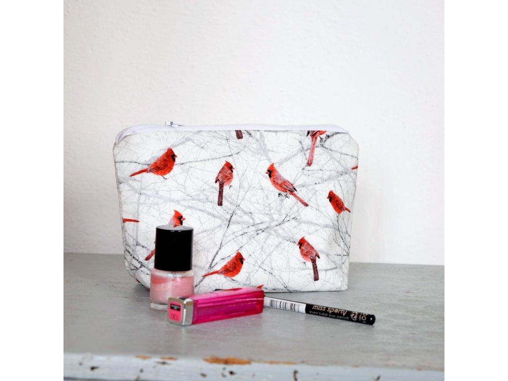 Kosmetická taštička - ptáčci