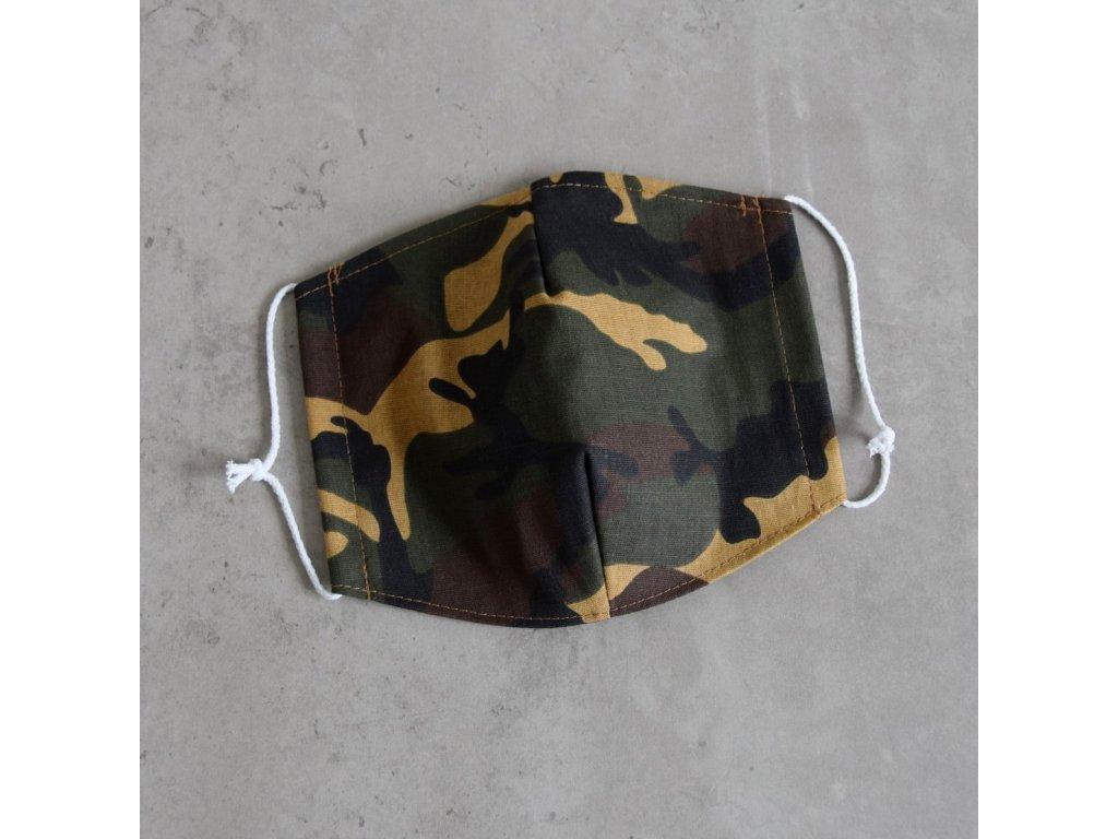 Bavlněná rouška pánská - maskáč
