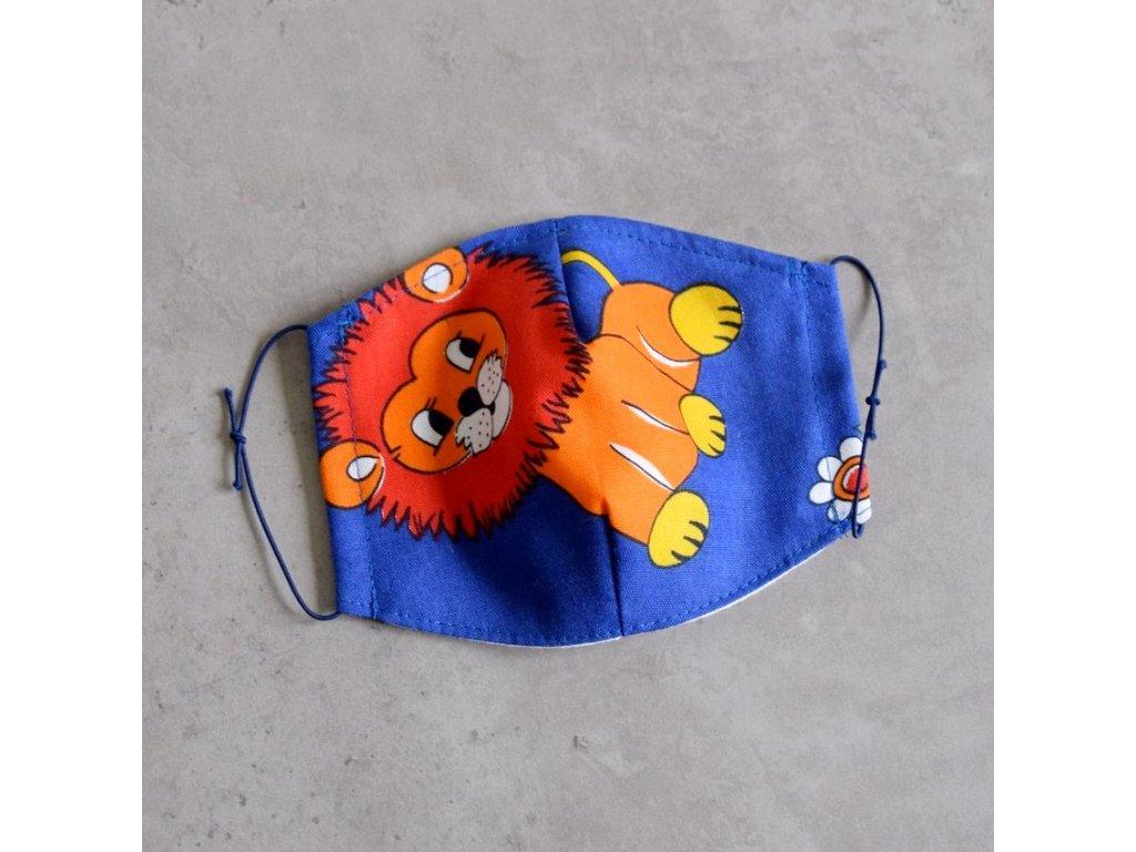 Bavlněná rouška dětská - lev