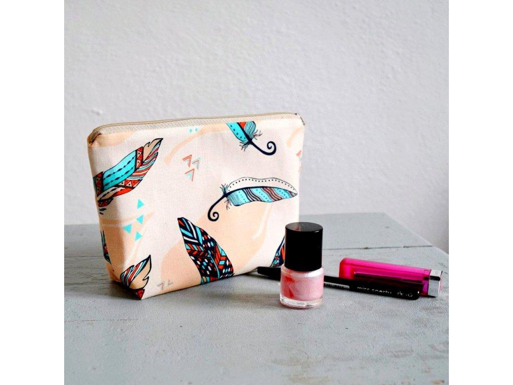 Kosmetická taštička - pírka