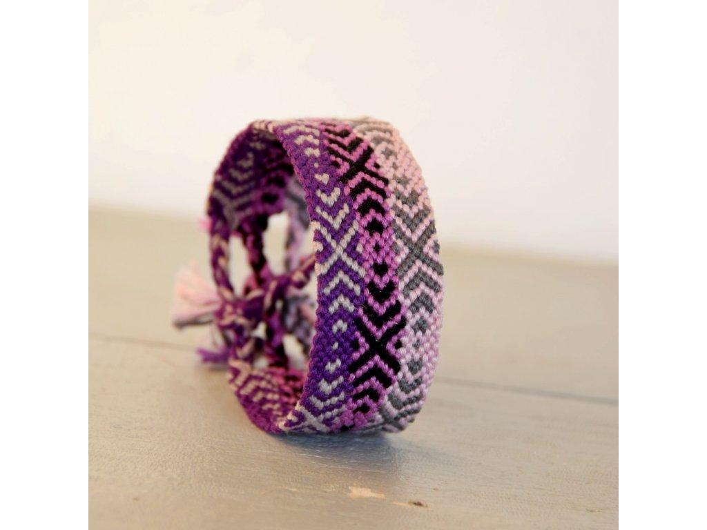 Náramek - violet vibes